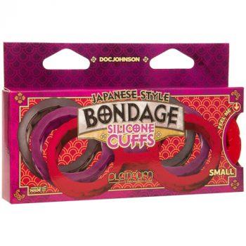 Japanse Bondage Siliconen Handboeien - Rood