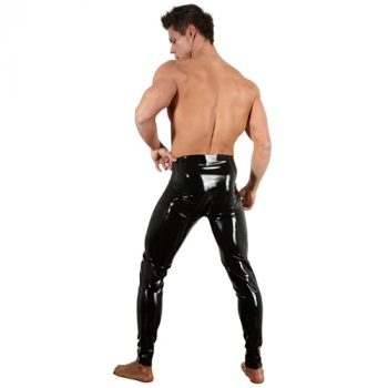 Latex Legging Met Rits