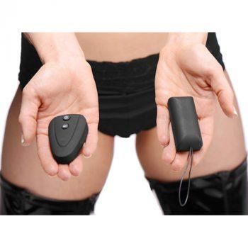 Burlesque Slip Met Vibrator - Zwart