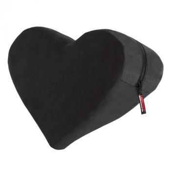 Heart Wedge Positiekussen - Zwart