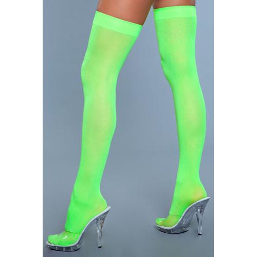 Hoge Nylon Kousen - Neon Groen