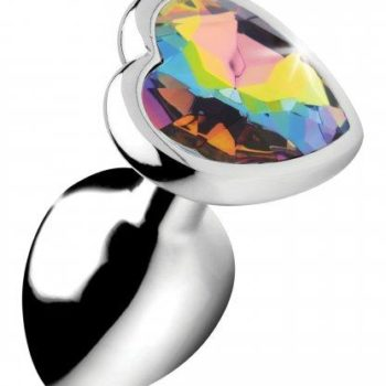 Rainbow Heart Buttplug - Klein