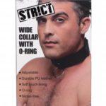 Zwarte Vegan Halsband Met Ring