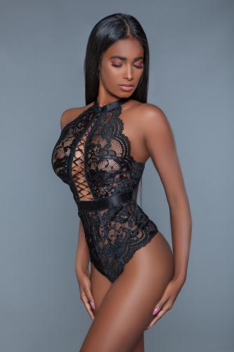 Margot Kanten String Body - Zwart