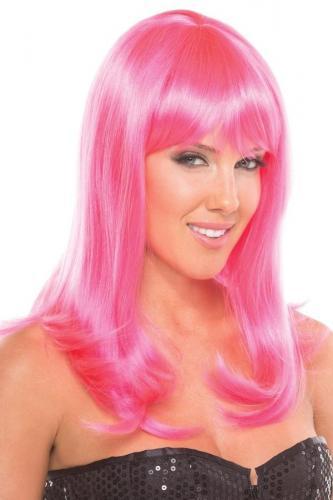 Hollywood Pruik - Roze