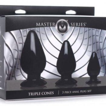 Triple Cones Anaalplug Set Van 3