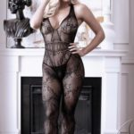 Good As Hell Catsuit Met Open Kruisje - Zwart