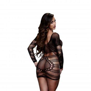 Baci - Sexy Jurkje Met Lange Mouwen - Zwart
