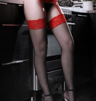 I Dare You Jarretel Panty - Rood/Zwart