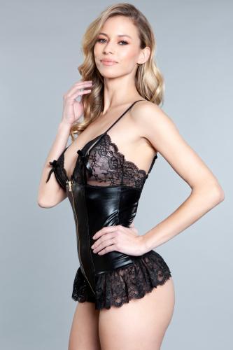 Beatrix Wetlook Body - Black