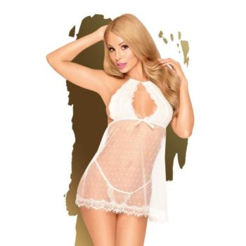 Penthouse Lingerie - Libido Boost Babydoll - Wit