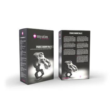 Mystim - Pubic Enemy No. 3 - Electrosex Kuisheidskooi met Ballstretcher