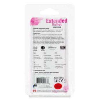 Extended Breeze Bullet Vibrator - Roze