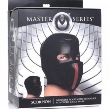 Scorpion Hood Met Afneembare Blinddoek En Mondmasker