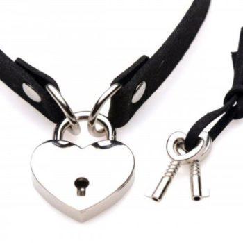 Lock-It Heart Choker Met Afsluitbaar Hartje
