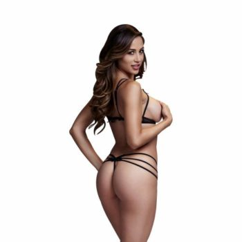 Baci - Strappy BH Set Met Open Cups