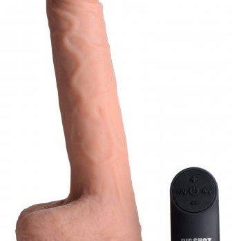 Vibrerende & Stotende Realistische XL Dildo Met Balzak - 17.8 cm