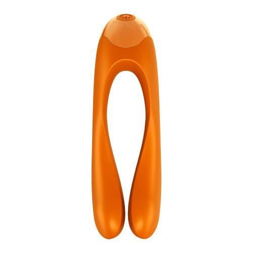 Satisfyer Candy Cane Vingervibrator - Oranje