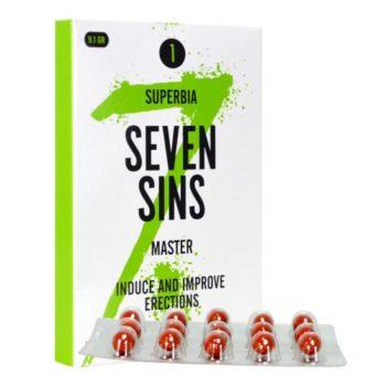 Seven Sins - Master - Lustopwekker Voor Mannen - 15 softgels