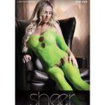 Stargazing Cold Shoulder Jarretel Catsuit - Neon Green