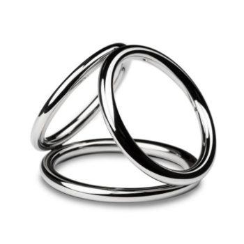 Sinner - Triad Chamber Metalen Cock- En Balring - Large