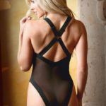 Serafina Caged Transparante Body - Zwart