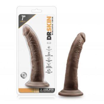 Dr. Skin - Realistische Dildo Met Zuignap 19 cm - Chocolate