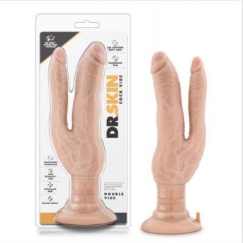 Dr. Skin - Cock Vibes Dubbele Vibrator - Beige