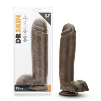 Dr. Skin - Mr. Mister Dildo Met Zuignap 26 cm  - Chocolate