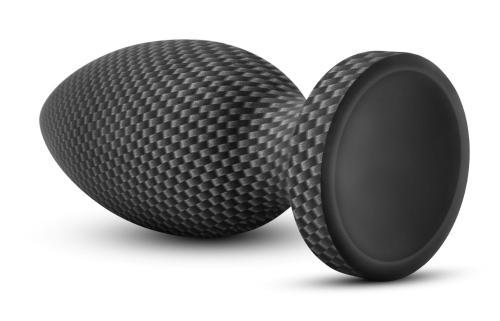 Spark - Siliconen Anaal Plug Carbon Fiber - Large