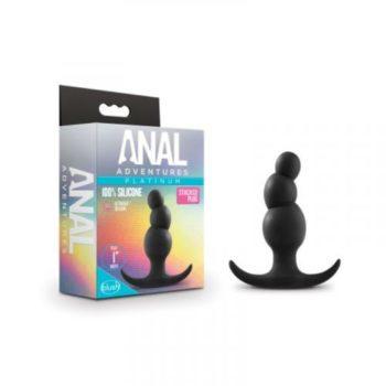Anal Adventures Platinum - Stacked Anaal Plug