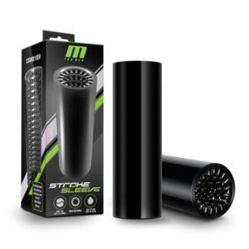 M for Men - Stroke Sleeve Flexibele Masturbator - Zwart