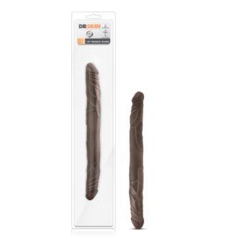 Dr. Skin - Realistische Dubbele Dildo 35 cm - Chocolate