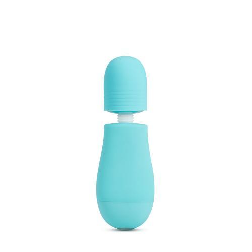 Rose - Petite Wand Vibrator Met Opzetstukken - Blauw