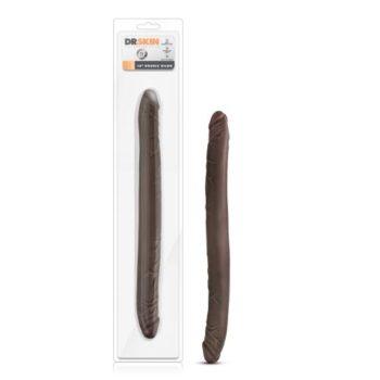 Dr. Skin - Realistische Dubbele Dildo 40 cm - Chocolate