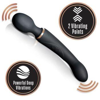 Lush Gia Dubbele Vibrator - Zwart