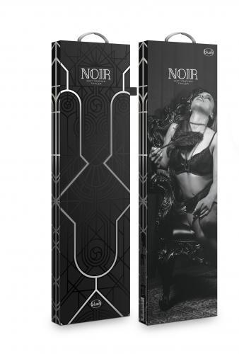 Noir - Lange Kietelaar Met Veren - Zwart